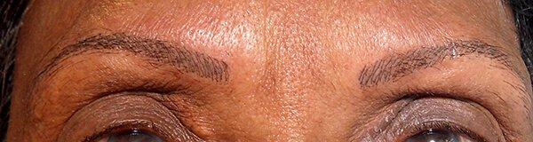 Permanente make up wenkbrauwen na